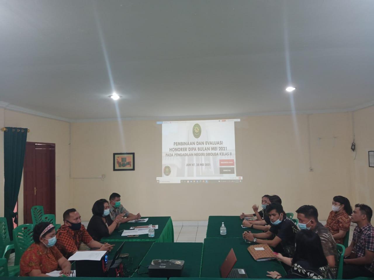 Pembinaan dan Evaluasi PPNPN Pengadilan Negeri Sibolga